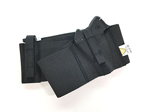 Safestcarry-Belly-Band-Holster-Concealed-Carry-Gun-Holster-and-Mag-Holster-for-Hips-Waist-or-Chest-Black-0-0