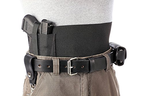 Safestcarry-Belly-Band-Holster-Concealed-Carry-Gun-Holster-and-Mag-Holster-for-Hips-Waist-or-Chest-Black-0